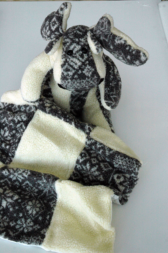 Adopt a Moose - White and Snowflakes with Matching Blanket